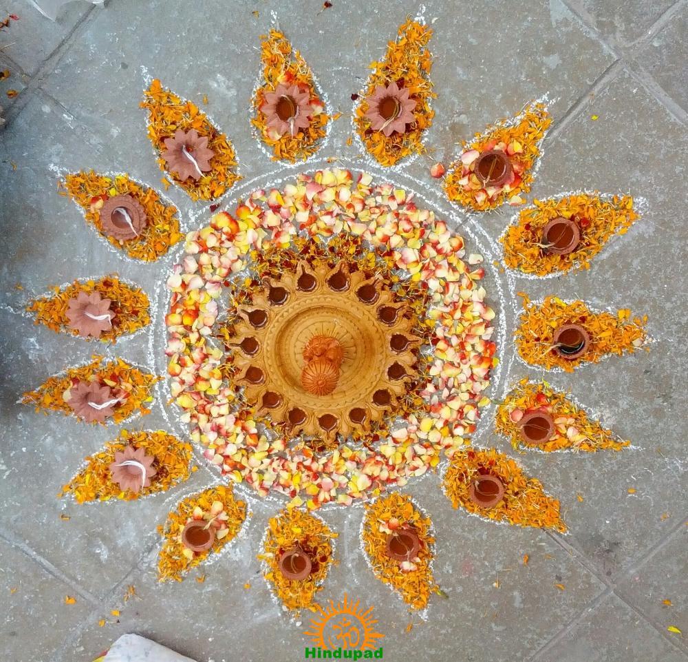 Diwali rangoli designs akhila for Door rangoli design images new