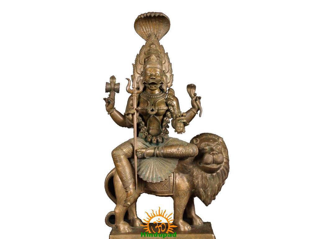 Goddess Pratyangira Devi Statue Hindupad