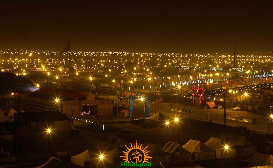 Night view of Kumbh Mela 2013