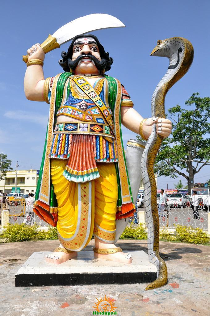 Mahishasura at Chamundeshwari Temple in Mysore